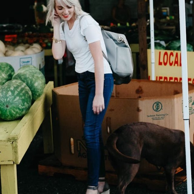 Just checking out the melons with our pup I lovehellip
