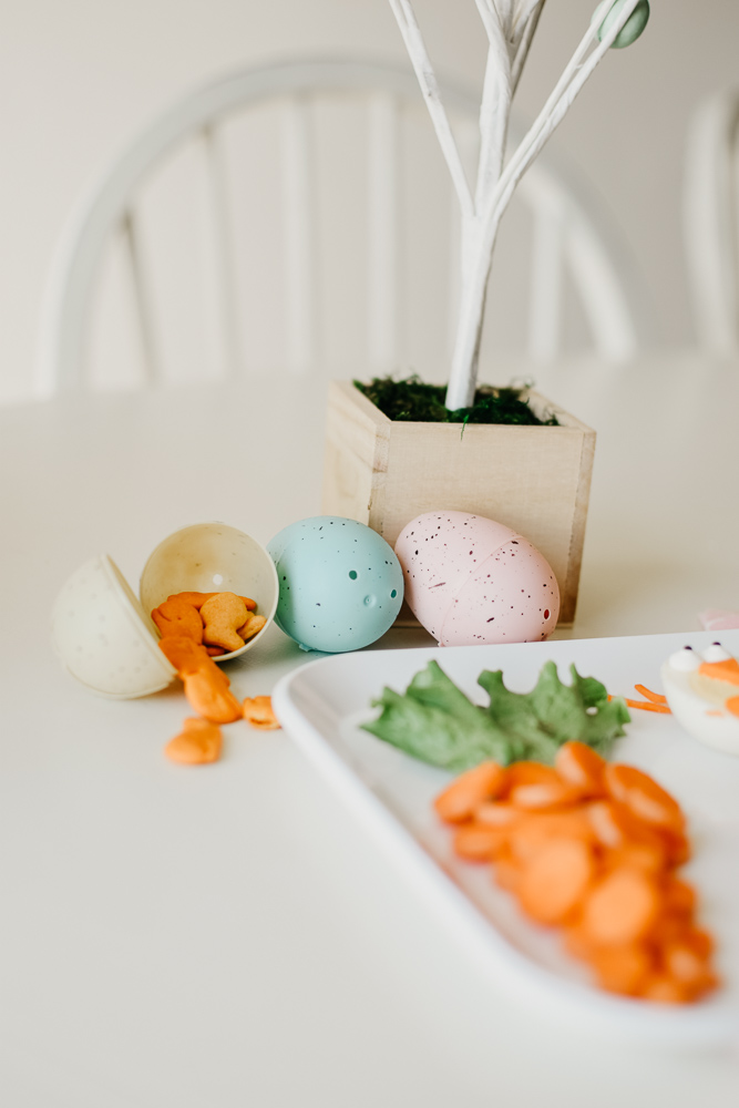 bunny baby easter food lunch plastic egg