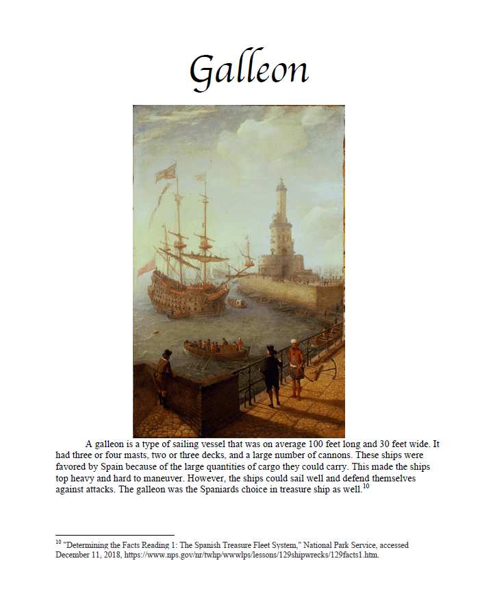 Galleon projects