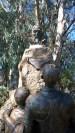 A statue of Cervantes