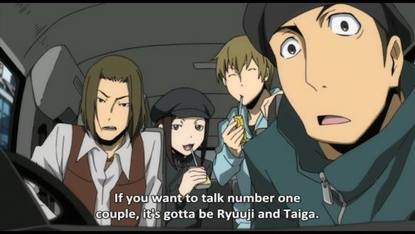 Phrase from Durarara anime