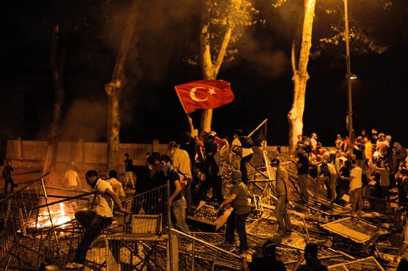 Riot in Turkey