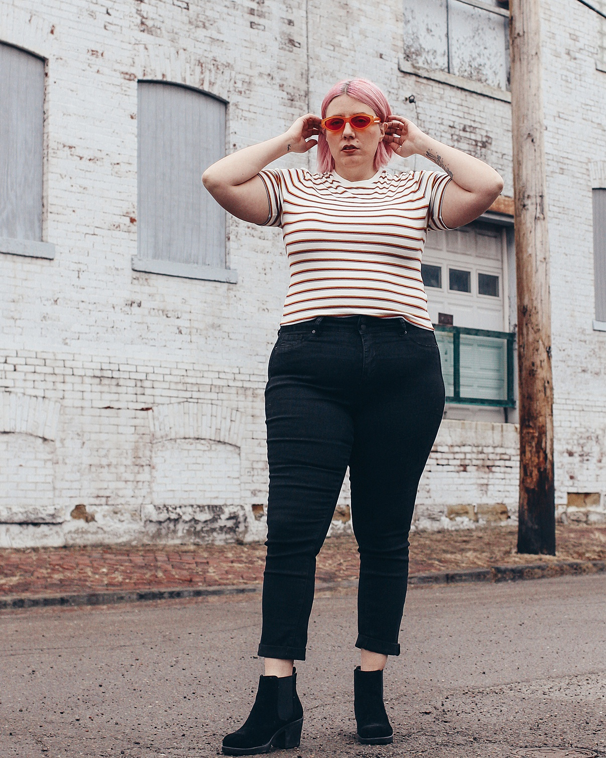 Jamie JeTaime Wearing Royalty For Me plus sized affordable jeans