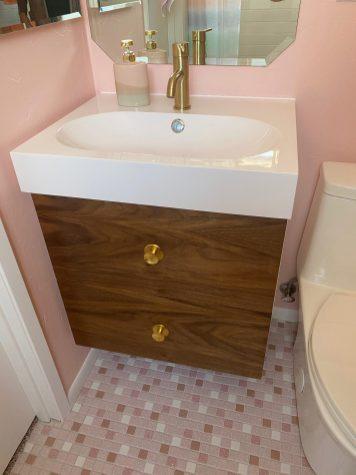 Ikea Godmorgon vanity with semihandmade doors - MCM bath