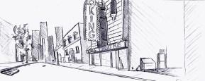 King Theater Line Art