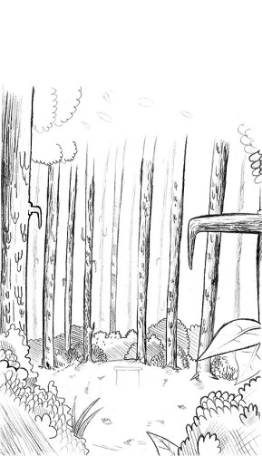 Forest Line Art