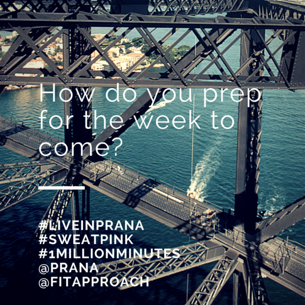 Preparation for the week #liveinprana #sweatpink