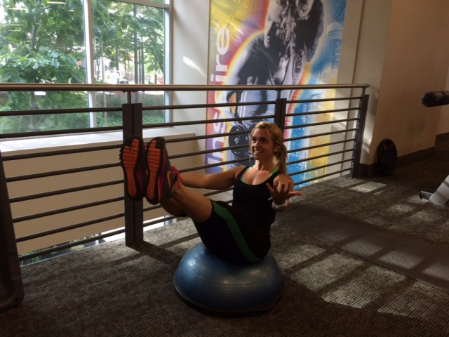 BOSU balance fitness and workout