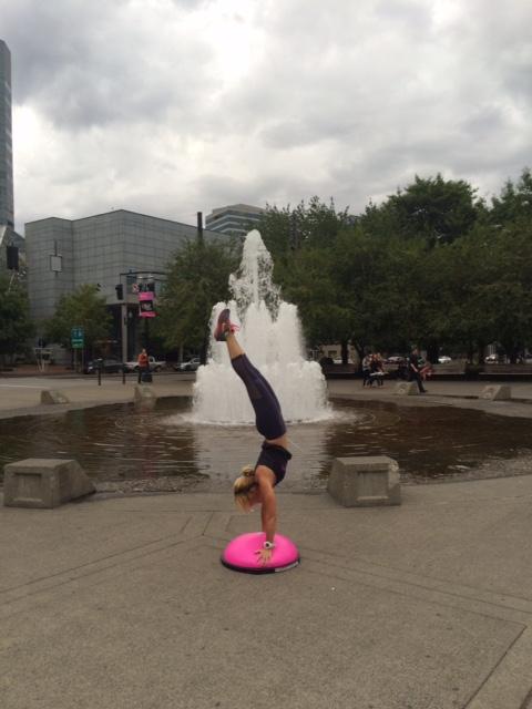 BOSU yoga moves - handstand