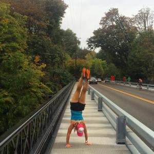Portland Yoga handstand