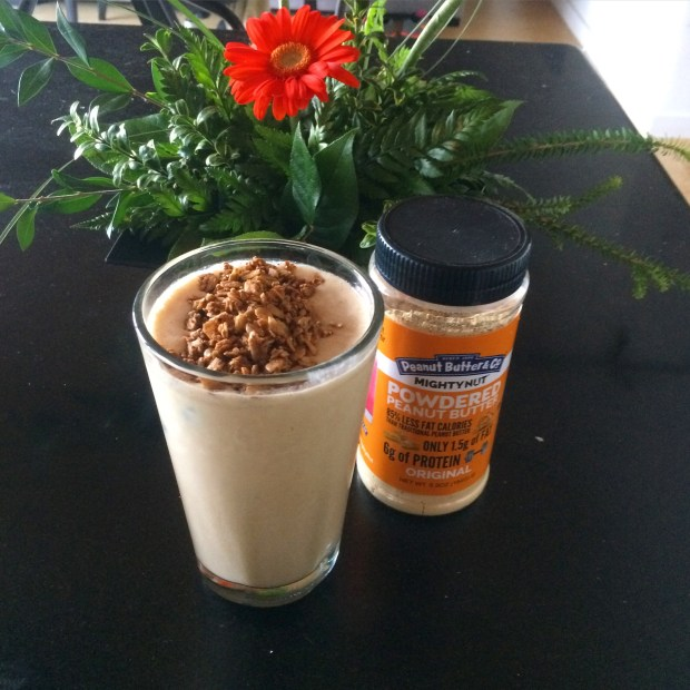 Mighty Nut peanut butter smoothie