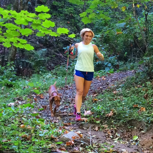 Trail run with dogs