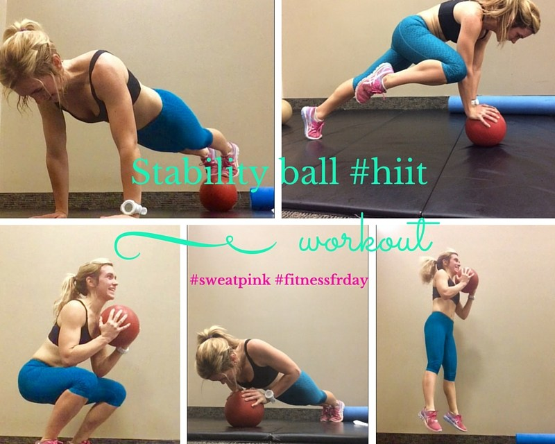 Stability ball #hiit workout