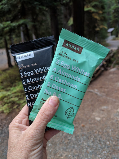 RXBars roadtrip snacks