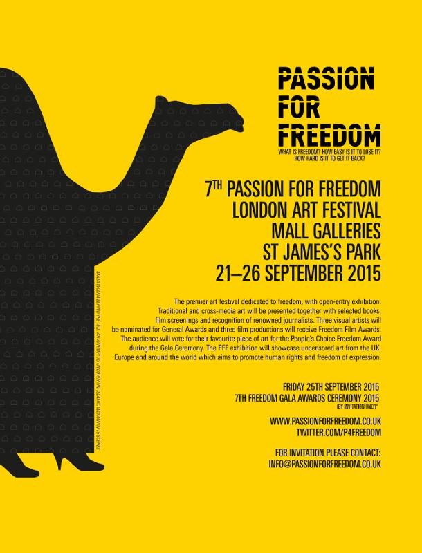Passion for Freedom Art Festival 21-26 Sep 2015 LONDON Jamie McCartney