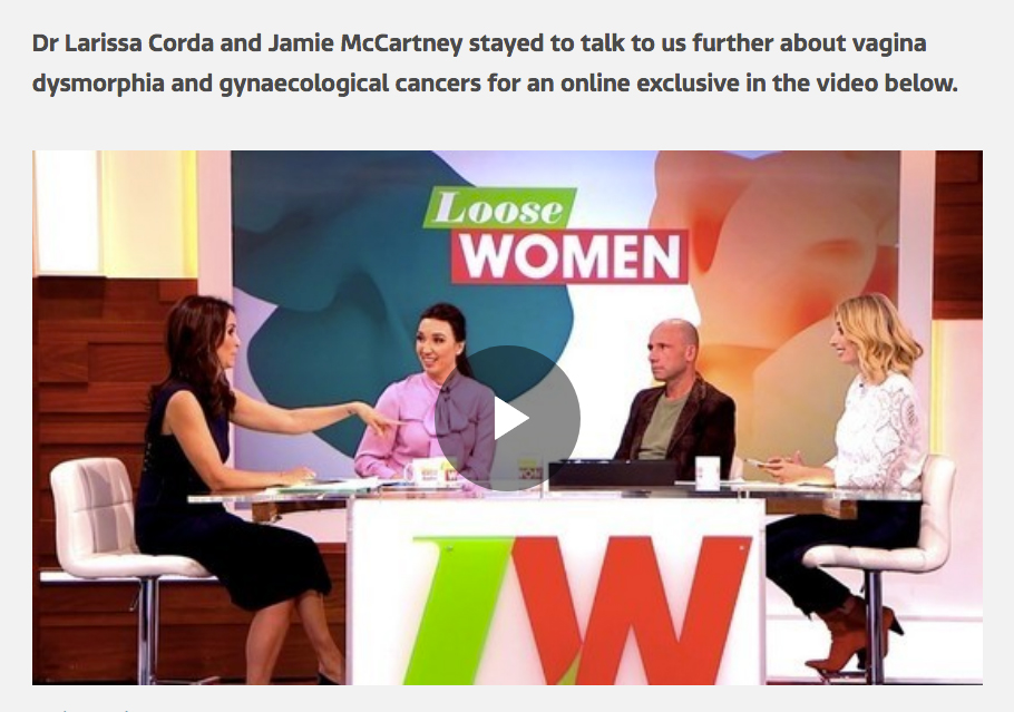 Jamie McCartney on Loose Women