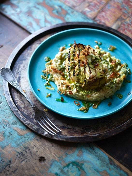 Vegan Holiday Main Dish Recipes, Grilled Cauliflower