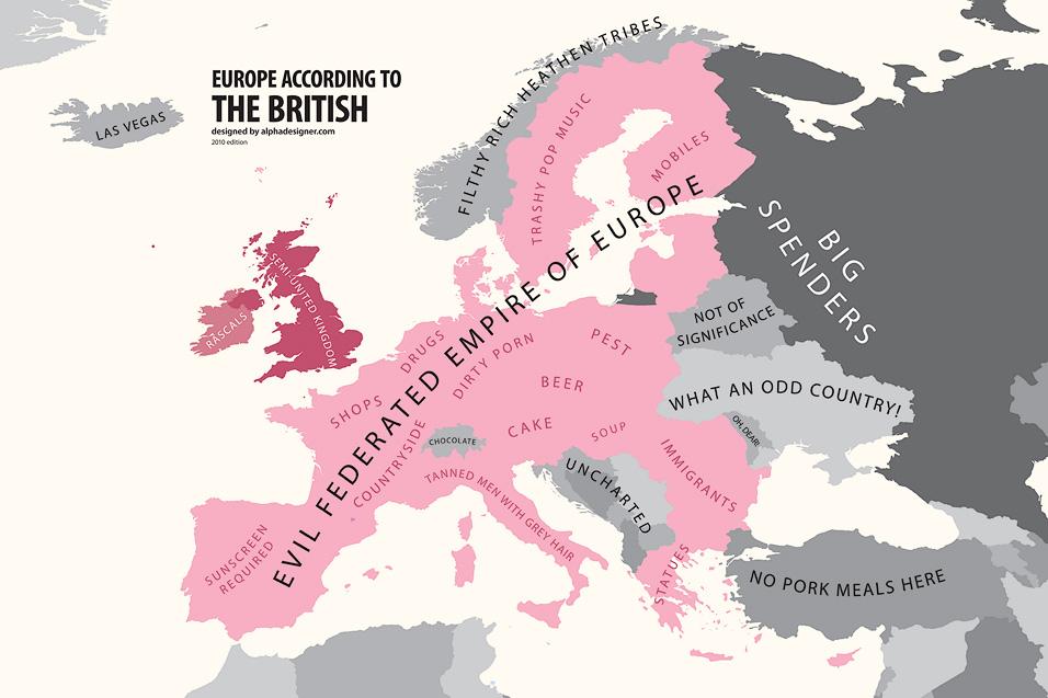 Europe... According to the British
