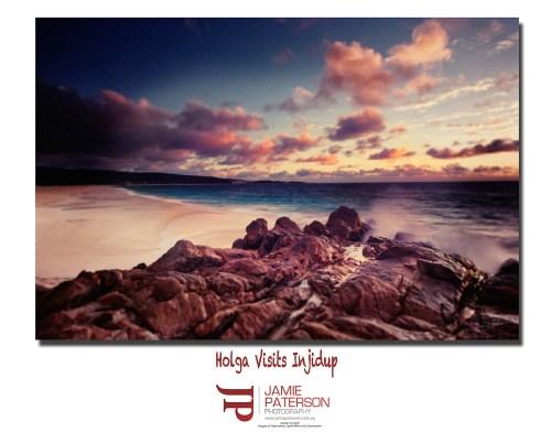 holga camera, injidup beach, lomography, seascape photography