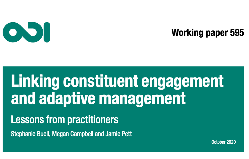 Linking Constituent Engagement and Adaptive Management: Lessons from Practitioners