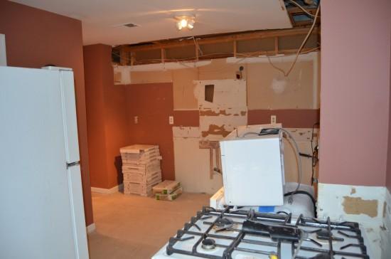 Kitchen Remodel West, Day 2