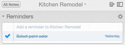 Kitchen Reminder