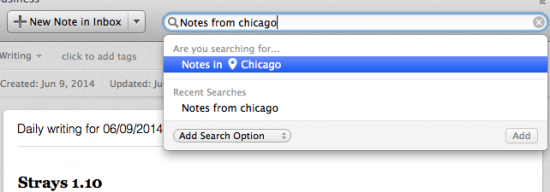 Notes Location Search