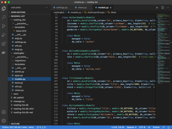 A screenshot of some code I've been writing