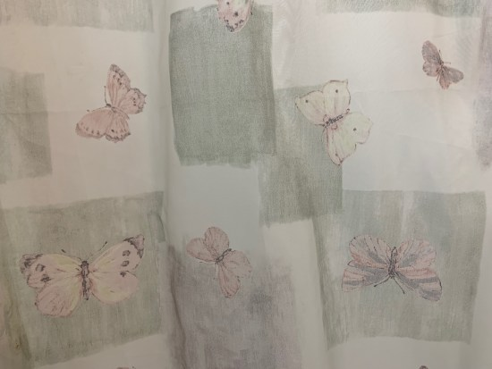 Our butterfly shower curtain