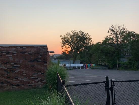 sunrise over 7-Eleven