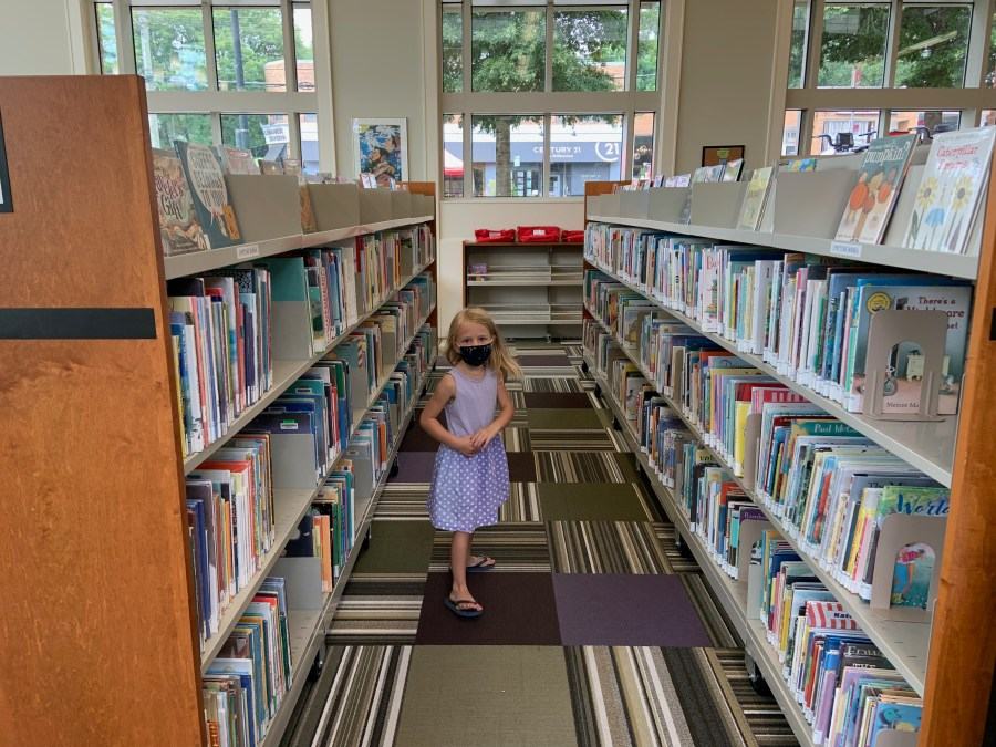 The Littlest Miss among the books