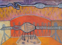 cut paper, acrylic and colored pencil on paper; 22″x30″ | 2013