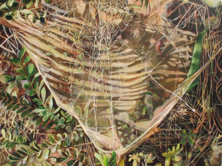 "As The Strands Await Vibration I, acrylic on canvas, 30"" x 40 | 2013 | $800"