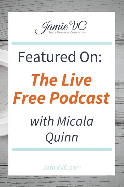 Live Free Podcast with Micala Quinn, JamieVC, Small Business Consultant, Employee Management, Jamie Van Cuyk