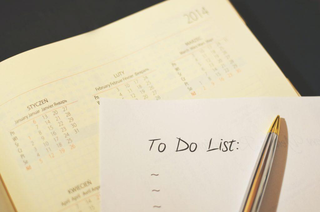 Goal setting for success: a list of tasks