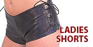 Ladies Shorts Featured by Jamin' Leather