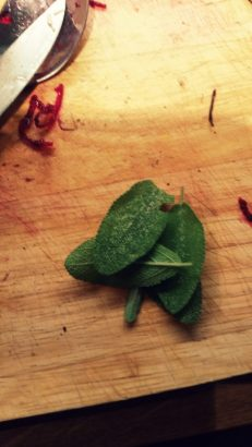 Some fresh sage, picked from the garden...
