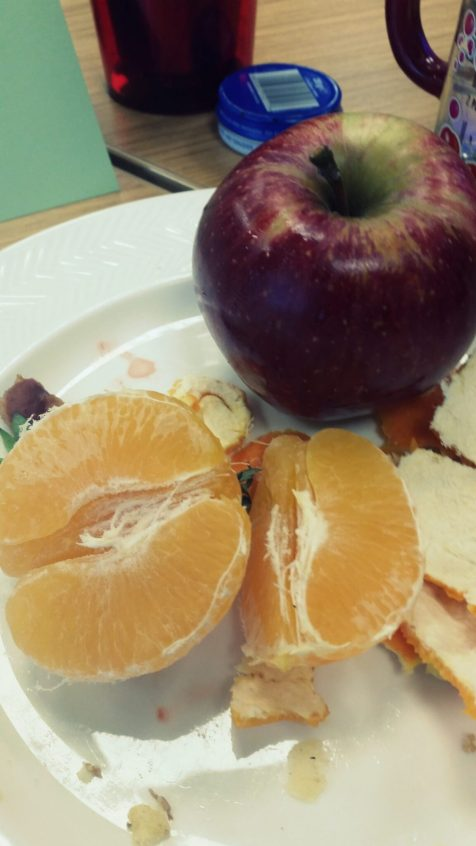 Then an apple and an orange for afters