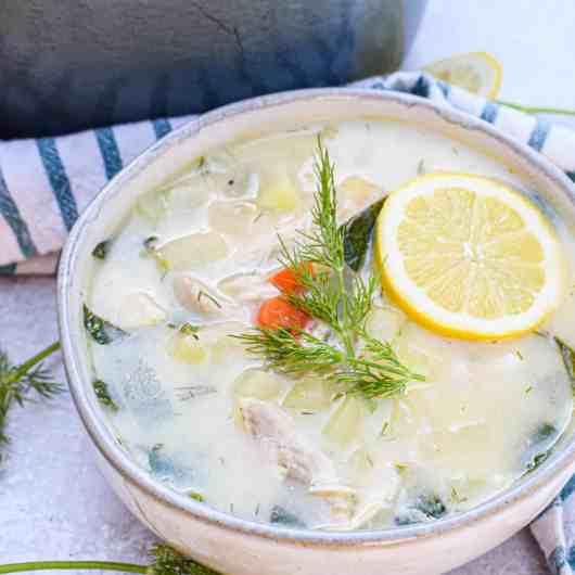 Whole30 Greek Lemon Chicken Soup