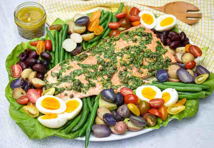 Whole30 Salmon Niçoise Salad by The Jam Jar Kitchen