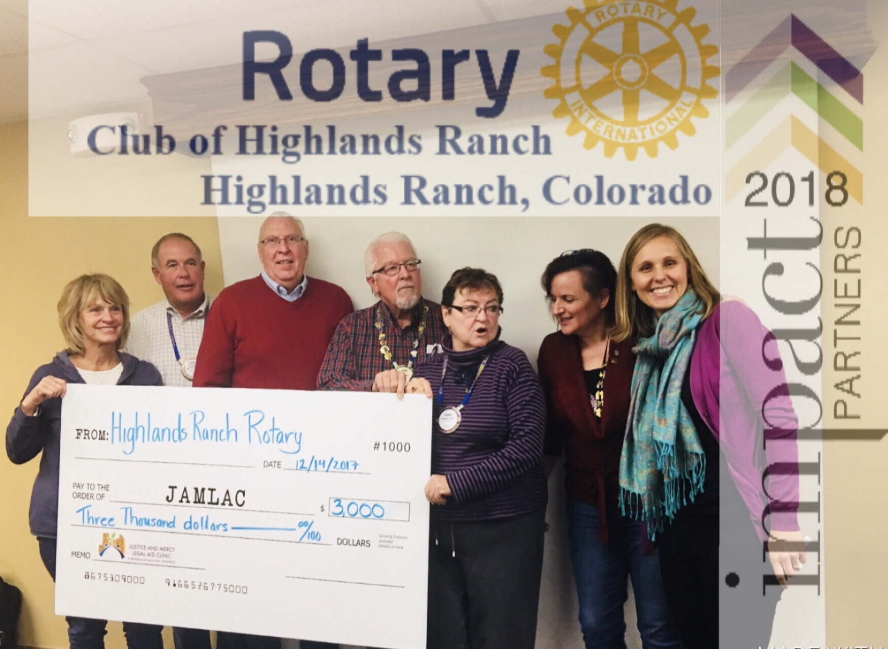 Highlands Ranch Rotary is an 2018 Impact Partner