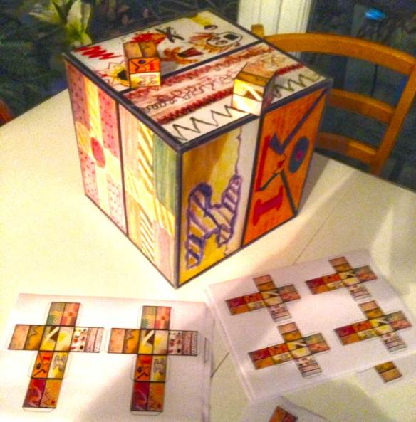 emotion box from printed and then folded template