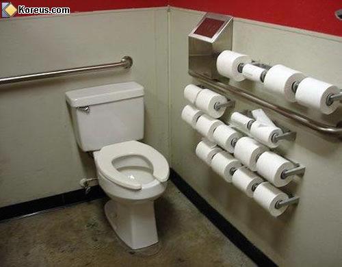 Papier toilettes en stock