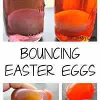 Bouncing Easter Eggs - Naked Rubber Egg Science Experiment