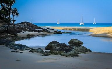 Naiharn beach estuary shortly after sunrise. phuket, Thailand