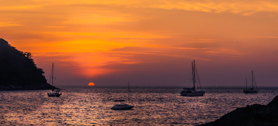 Sunset at Yannui Beach, Phuket
