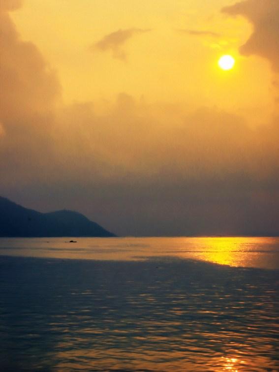 A beautiful sunrise in Rawai, Phuket given a textured treat
