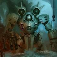 robot in art gallery