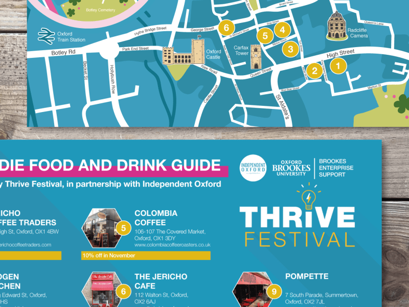 Oxford Brookes Thrive Festival Map
