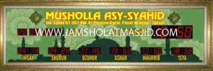 jual jadwal sholat digital bagus untuk masjid di bekasi